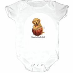 Infant baby toddler Creeper sleeper body suit one piece Basketball girl puppy dog doggy