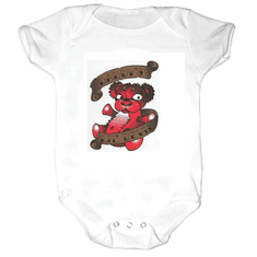 Infant baby toddler Creeper sleeper body suit one piece  Daddy's lil devil