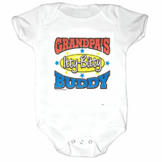 Infant baby toddler Creeper sleeper body suit one piece Grandpa's Itty Bitty Buddy