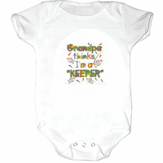 Infant baby toddler Creeper sleeper body suit one piece Grandpa thinks I'm a keeper fish
