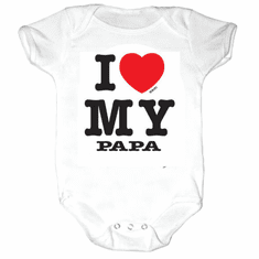 Infant baby toddler creeper sleeper body suit one piece I love my papa