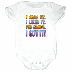 Infant baby toddler creeper sleeper body suit one piece I saw it I liked it told Grandpa I got it