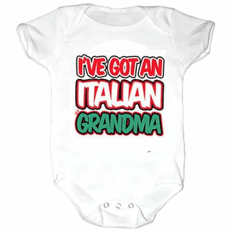Infant baby toddler Creeper sleeper body suit one piece I've got an Italian Grandma