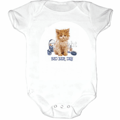 Infant baby toddler Creeper sleeper body suit one piece kitten kitty cat bad hair days
