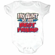 Infant baby toddler Creeper sleeper body suit one piece My Aunt is my best friend