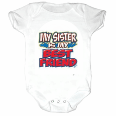 Infant Baby toddler Creeper sleeper body suit one piece My sister is my best friend