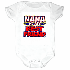 Infant Baby toddler Creeper sleeper body suit one piece Nana is my best friend