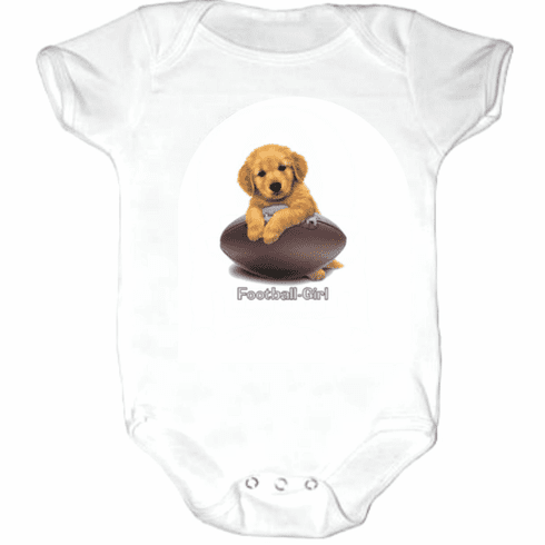 Infant baby toddler Creeper sleeper body suit one piece puppy dog doggy Football girl