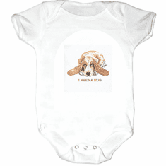Infant baby toddler Creeper sleeper body suit one piece puppy dog doggy I need a hug
