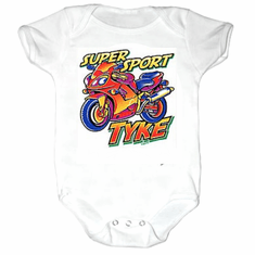 Infant baby toddler creeper sleeper body suit one piece Super sport tyke