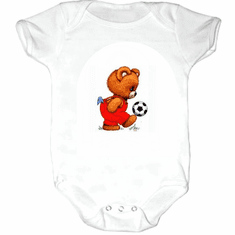 Infant baby toddler creeper sleeper body suit one piece teddy bear soccer ball