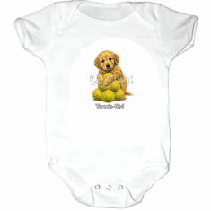 Infant baby toddler Creeper sleeper body suit one piece Tennis girl puppy dog doggy