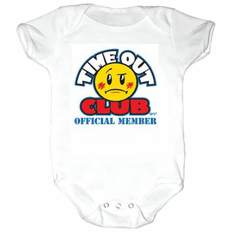 Infant baby toddler creeper sleeper body suit one piece Time Out Club Official Member