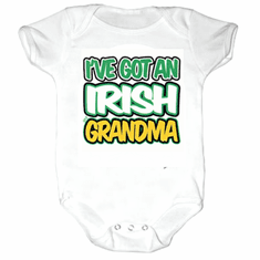 Infant baby toddler Creeper sleeper one piece body suit I've got an Irish Grandma