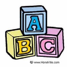 Infant baby toddler kids A B C Alphabet blocks pastel colors