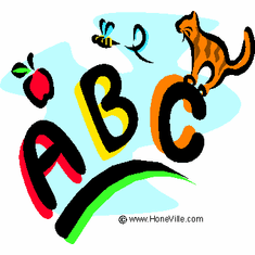 Infant baby toddler kids A B C Alphabet kitten kitty cat