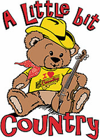Infant baby toddler kids A Little bit country teddy bear