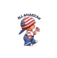 Infant baby toddler kids All American little boy Americana