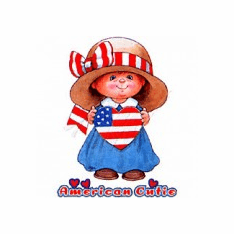 Infant Baby toddler kids American cutie Americana red white and blue girl