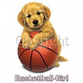 Infant baby toddler kids Basketball girl puppy dog doggy