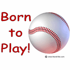Infant baby toddler kids Born to play baseball sports ball