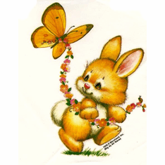 Infant baby toddler kids Bunny rabbit butterfly