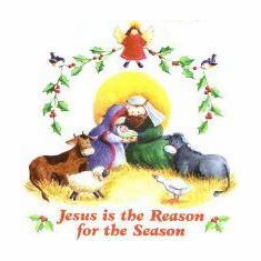 Infant baby toddler kids Christian Christmas Jesus is the Reason for the Season