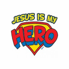Infant baby toddler kids Christian Jesus is my HERO