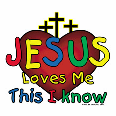 Infant baby toddler kids Christian Jesus Loves Me this I know