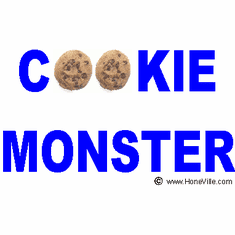 Infant baby toddler kids Cookie Monster chocolate chip cookies