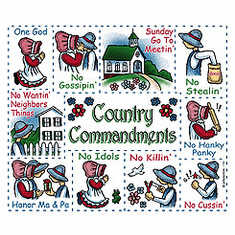Infant baby toddler kids Country ten commandments dolls