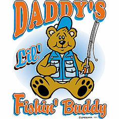 Infant baby toddler kids Daddy's Lil' Fishin' Buddy
