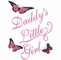 Infant baby toddler kids Daddy's Little Girl Butterflies