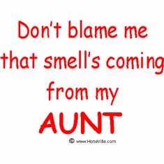 Infant baby toddler kids Don't blame me that smell's coming from my Aunt