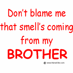 Infant baby toddler kids Don't blame me that smell's coming from my Brother