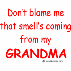 Infant baby toddler kids Don't blame me that smell's coming from my Grandma