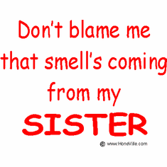 Infant baby toddler kids Don't blame me that smell's coming from my Sister