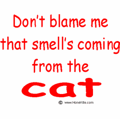Infant baby toddler kids Don't blame me that smell's coming from the Cat