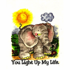 Infant baby toddler kids elephant You light up my life