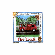 Infant baby toddler kids Fire truck Firefighter fireman