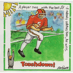 Infant baby toddler kids football player touchdown