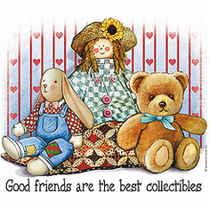 Infant baby toddler kids Friends are the best collectibles doll teddy bear bunny rabbit