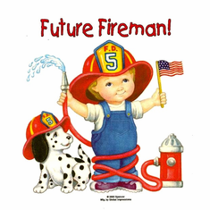 Infant baby toddler kids Future Fireman boy dalmatian puppy dog doggy