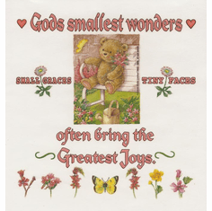 Infant baby toddler kids God's smallest wonders often bring the greatest joys small graces tiny faces teddy bear