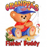 Infant baby toddler kids Grandpa's Fishin' buddy teddy bear