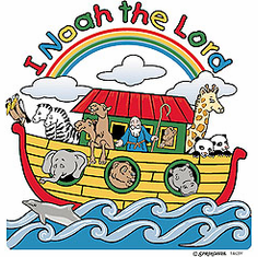 Infant baby toddler kids I Noah the Lord Noah's Ark Animals Christian