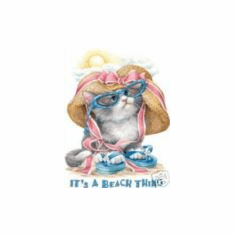 Infant baby toddler kids It's a beach thing kitten kitty cat