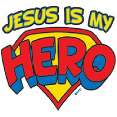 Infant baby toddler kids Jesus is my Hero
