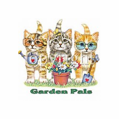 Infant baby toddler kids kitten kitty cat Garden pals