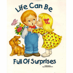 Infant baby toddler kids Life can be full of surprises little girl boy puppy dog doggy